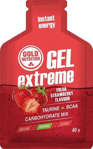 Gold Nutrition Extreme Gel Taurine Strawberry - 40gr