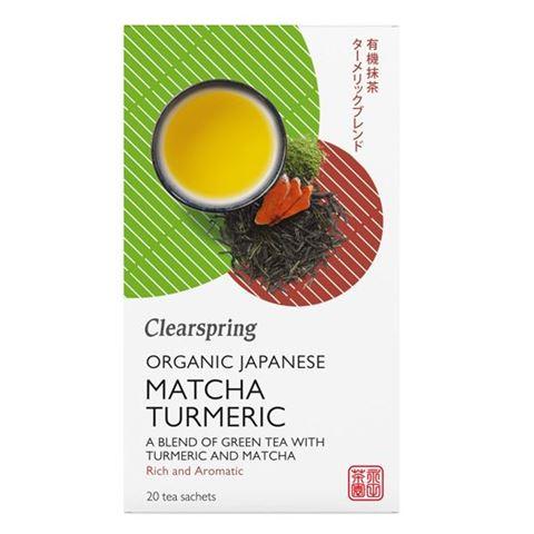 Πράσινο Τσάι Matcha Turmeric 36gr Clearspring 20 φακελάκια