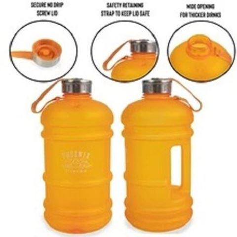 Ryder Hub Drinks Hydration Water Bottle - Orange, 2.2L