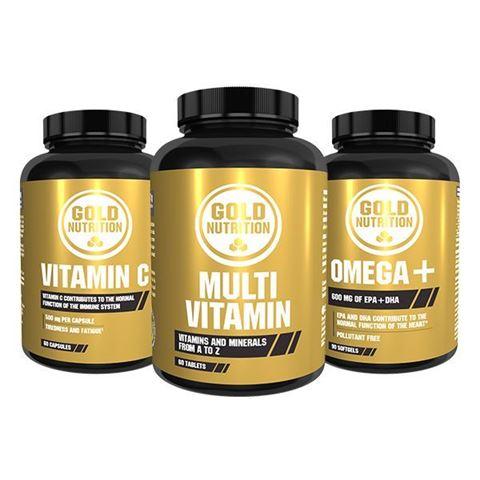 Gold Nutrition Ενίσχυση ανοσοποιητικού Vitamin C 500mg & Omega 3 & Multivitamin