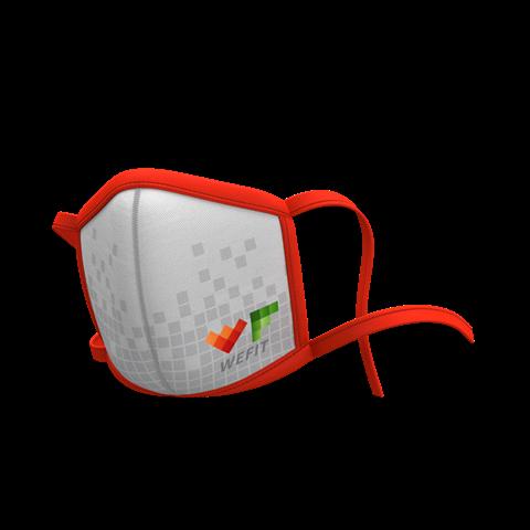 Μάσκα Προσώπου Προστατευτική Πολλαπλών Χρήσεων με κορδόνια