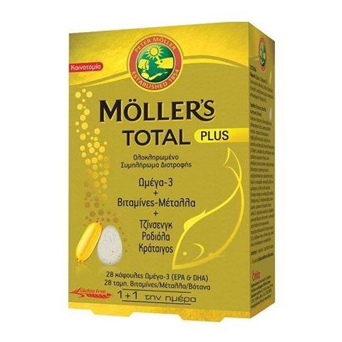 Moller's Μουρουνέλαιο Total Plus 28 Καψουλες - 28 Ταμπλέτες