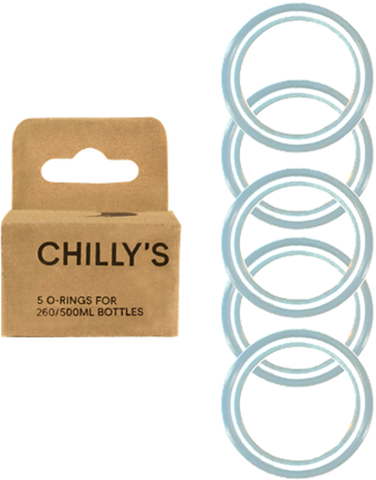 Chillys 5x O-Ring Pack 260/500ml