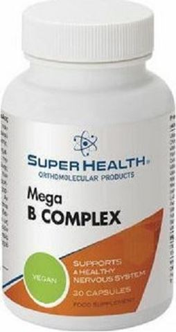 Super Health Mega B-Complex 30 Φυτικές Κάψουλες