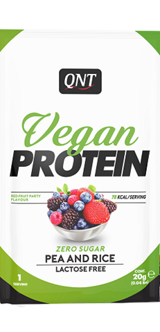 QNT Vegan Protein Red Fruits Party, 20gr