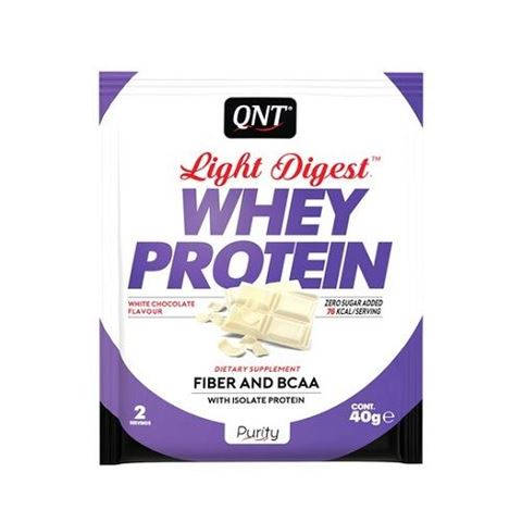 QNT Light Digest Whey Protein Λευκή Σοκολάτα, 40gr