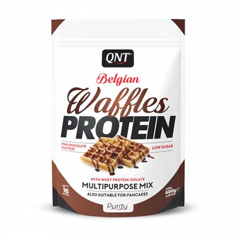 QNT Waffles Protein Milk Chocolate, 480gr