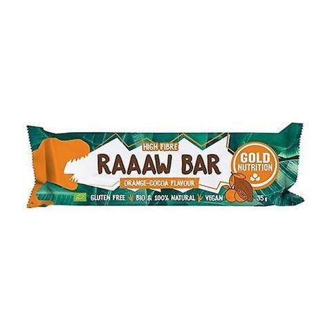 Gold Nutrition Raaaw Bar Orange - Cocoa, 35gr