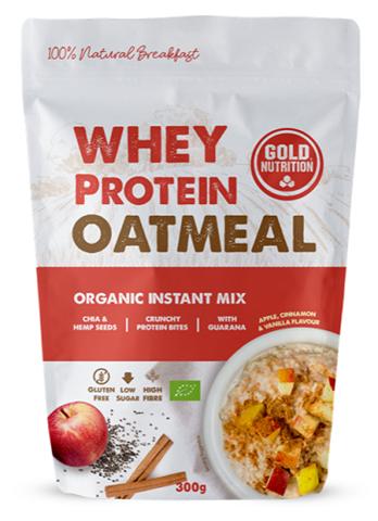 Gold Nutrition Whey Protein Oatmeal Apple, Cinnamon & Vanilla, 300gr