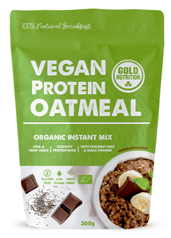 Gold Nutrition Vegan Protein Oatmeal Chocolate, 300gr