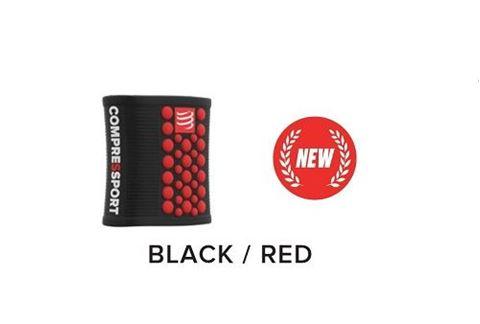 CompresSport Wrist Band, Μαύρο-Κόκκινο