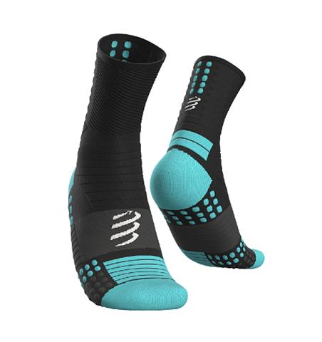 CompresSport Pro Marathon Socks, Τ4/45-48, Μαύρο-Μπλε