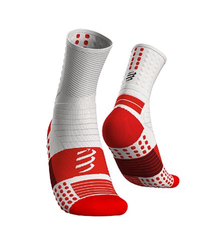 CompresSport Pro Marathon Socks, Τ1/35-38, Άσπρο-Κόκκινο