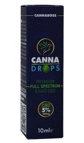 Canna Drops Έλαιο Κάνναβης CBD oil 5% 500mg 10ml