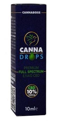 Canna Drops Έλαιο Κάνναβης CBD oil 10% 1000mg 10ml