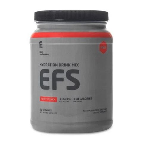 First Endurance EFS New- Ενεργειακό ρόφημα ηλεκτρολύτη & υδατάνθρακα σε σκόνη - Γεύση Fruit Punch 960γρ