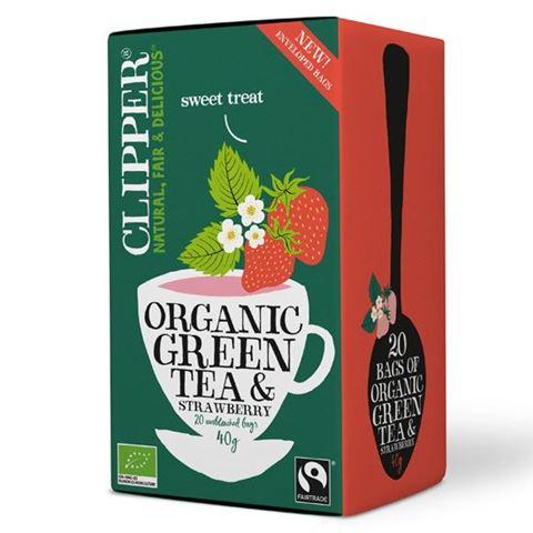 Clipper Πράσινο Τσάι με Φράουλα (40γρ)
