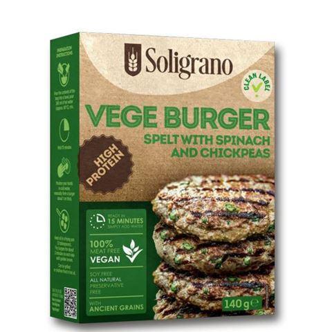 Soligrano Vege Burger με Σπανάκι & Ρεβύθια 140g