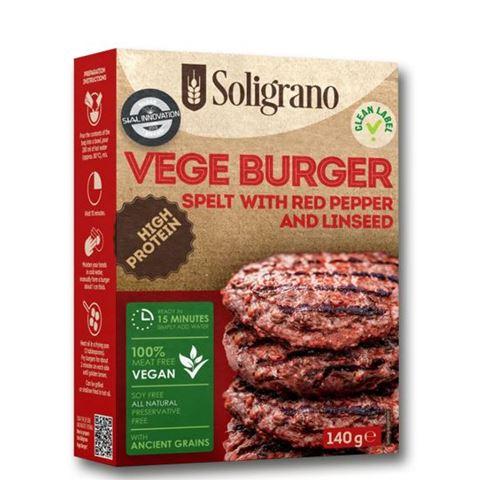 Soligrano Vege Burger με Πάπρικα & Λιναρόσπορο 140g