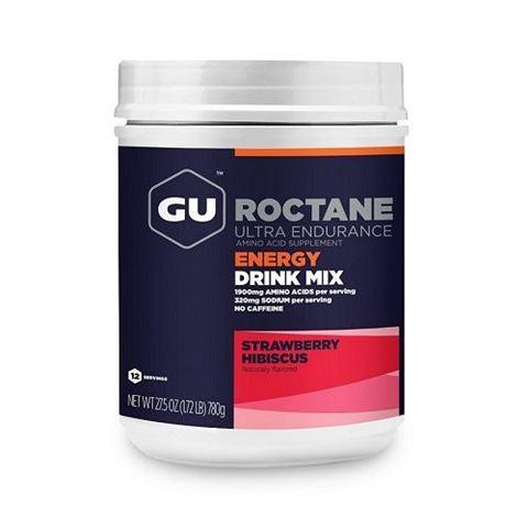 Ενεργειακό ποτό με Hλεκτρολύτες & Yδατάνθρακα GU ROCTANE Drink - Γεύση Strawberry Hibiscus, 780gr