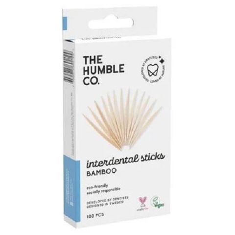 The Humble Co. Οδοντιατρικές Οδοντογλυφίδες από Μπαμπού - 100τμχ