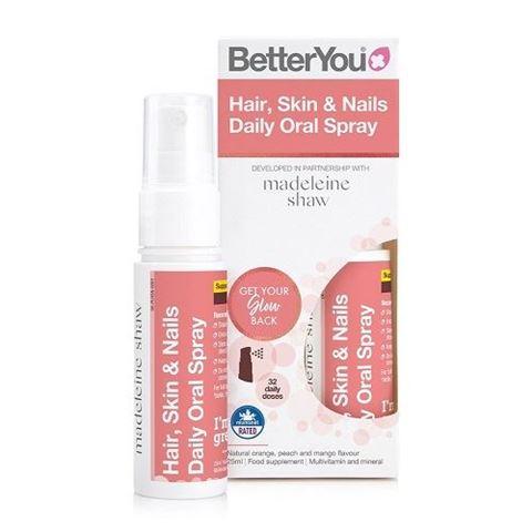 BetterYou Hair Skin and Nails Oral Spray Υπογλώσσιο spray, 25ml, 128 ψεκασμοί