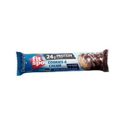Fit Spo Delight Πρωτεϊνική μπάρα 37% - Γεύση Cookies & Cream 65gr