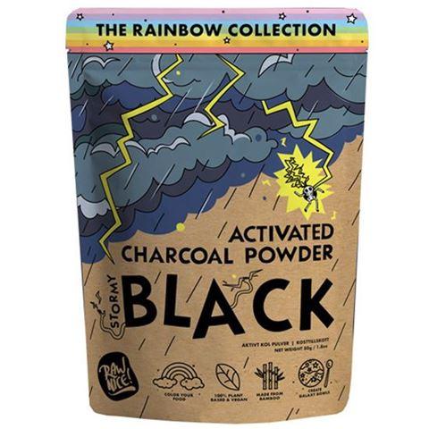 Rawnice Μαύρος Ενεργός Άνθρακας από Μπαμπού σε Σκόνη 50gr