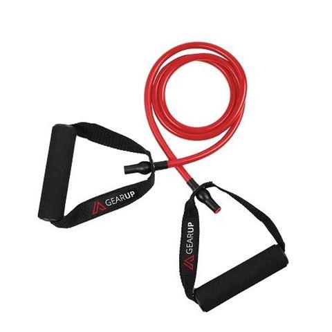 GEAR UP Λάστιχα Γυμναστικής με Λαβές, Κόκκινο (Medium)