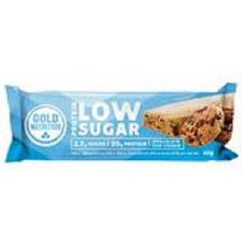 Gold Nutrition Total Protein Low Sugar Bar Choc Chip Cookie 60gr