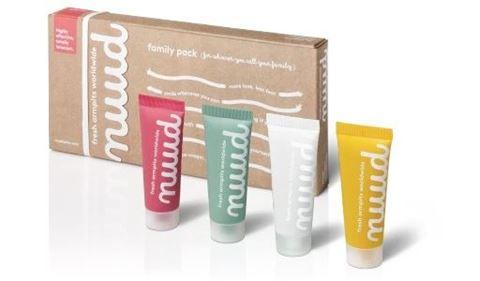 nuud Φυσικό και Vegan Αποσμητικό, 4 x 20ml tube Family Pack