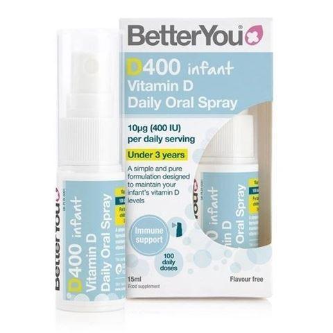 BetterYou D400 IU Infant spray D3, 15ml, 100 Ψεκασμοί, 6 Μηνών+